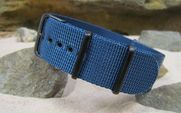 The Mediterranean XII NATO Strap w/ PVD Hardware (Stitched) 18mm