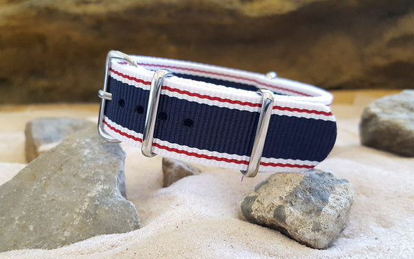 The Nautical Ballistic Nylon Strap w/ Polished Hardware 18mm