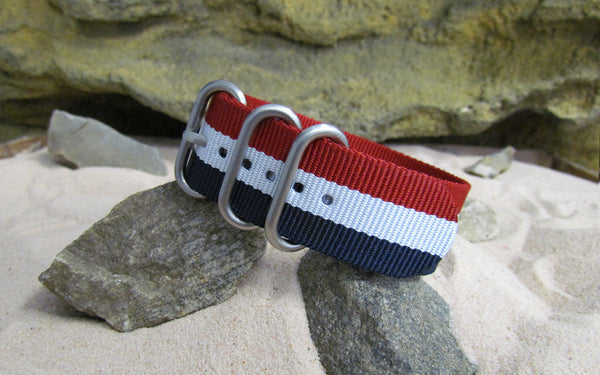 The Patriot Z3™ Ballistic Nylon Strap w/ Brushed SS Hardware (Stitched) 22mm