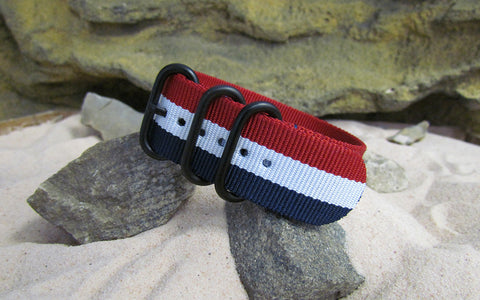 The Patriot Z3™ Ballistic Nylon Strap w/ PVD Hardware (Stitched) 22mm