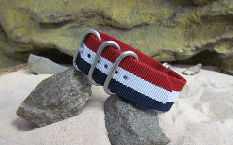 The Patriot Z5™ Ballistic Nylon Strap w/ Brushed SS Hardware (Stitched) 24mm