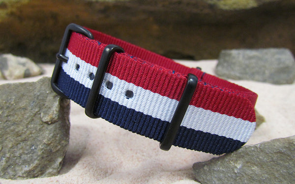 The Patriot Ballistic Nylon Strap w/ PVD Hardware (Stitched) 18mm