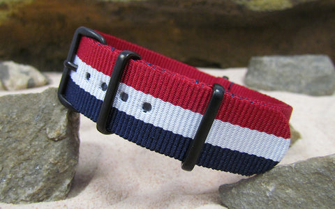 The Patriot Nato Strap w/ PVD Hardware (Stitched) 18mm