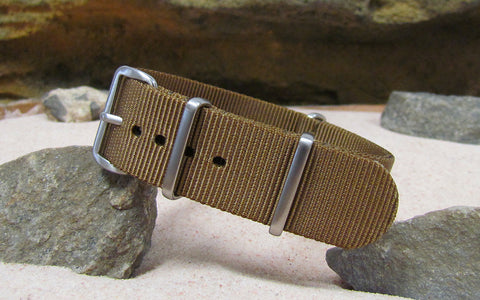 The Platoon Ballistic Nylon Strap w/ Brushed Hardware 20mm