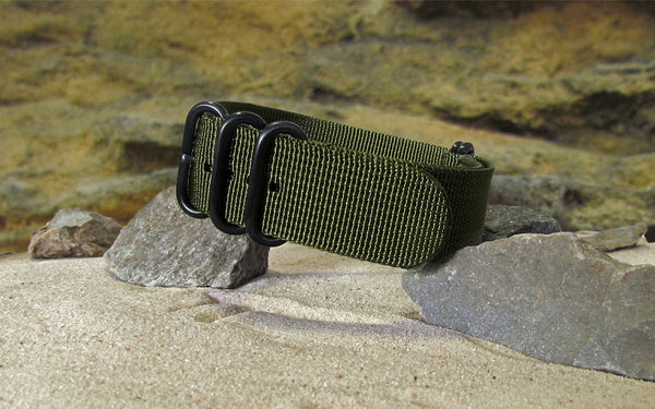 The Brigade XII Z5™ Ballistic Nylon Strap w/ PVD Hardware (Stitched) 18mm