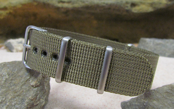 The Private XII NATO Strap w/ Brushed Hardware (Stitched) 22mm