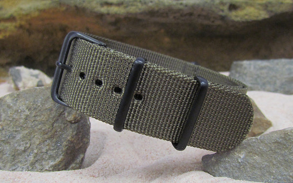 The Private XII Ballistic Nylon Strap w/ PVD Hardware (Stitched) 18mm