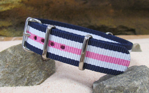The Rosie Nato Strap w/ Polished Hardware 18mm