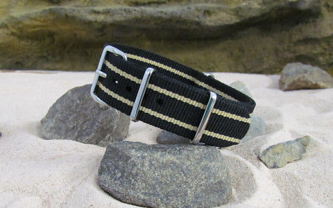 The Burnout NATO Strap with Polished Hardware 22mm