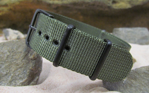 The Soldier XII Ballistic Nylon Strap w/ PVD Hardware (Stitched) 18mm