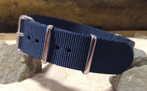 The Submarine XII Ballistic Nylon Strap w/ Polished Hardware (Stitched) 20mm