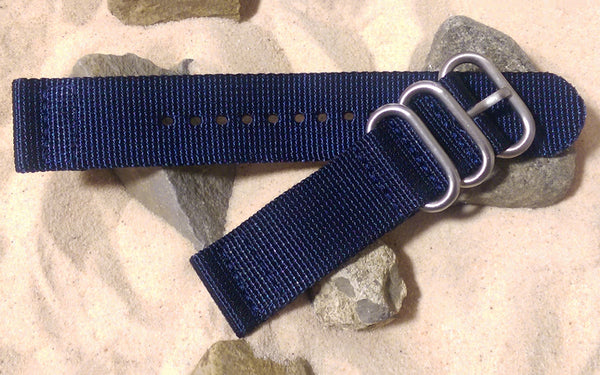The Pacific Z3™ Two-Piece Nato Strap w/ Brushed Hardware (Stitched) 22mm