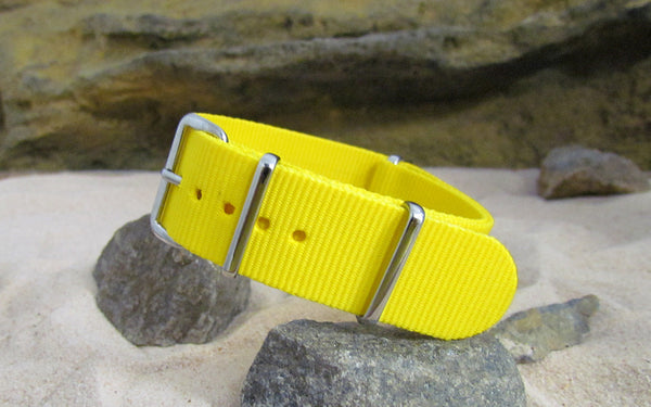 The Sunburst Ballistic Nylon Strap w/ Polished Hardware 18mm