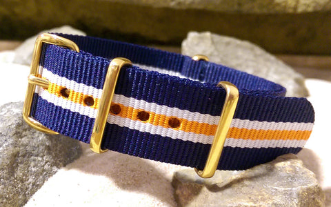 The Triton Ballistic Nylon Strap w/ Gold Hardware 22mm