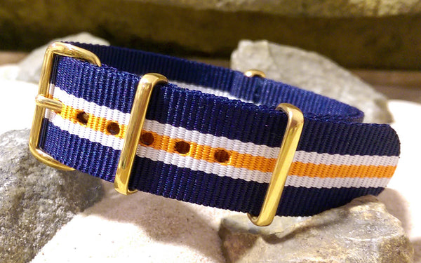The Triton Ballistic Nylon Strap w/ Gold Hardware 18mm