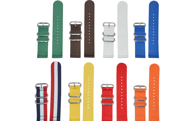 22mm Z3 Two-Piece Ballistic Nylon Strap with Brushed Hardware Bundle