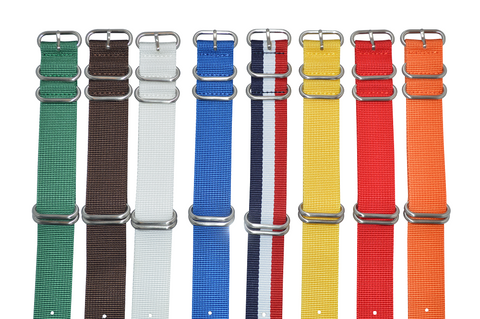 18mm Z5 Ballistic Nylon Strap with Brushed Hardware Bundle