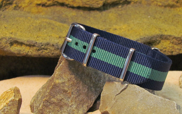 The Aurora Nato Strap w/ Polished Hardware 18mm