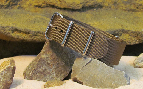 The Berenger Ballistic Nylon Strap w/ Polished Hardware (Stitched) 22mm