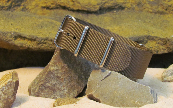 The Berenger Nato Strap w/ Polished Hardware (Stitched) 20mm