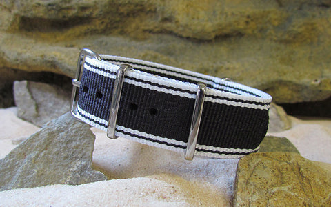 The Tuxedo Ballistic Nylon Strap w/ Polished Hardware 22mm