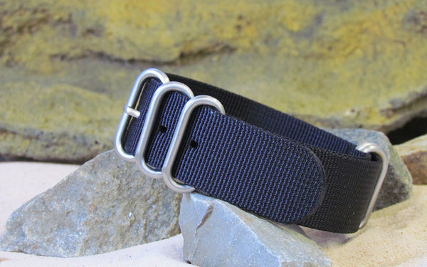 The Black-Ops XII Z5™ Ballistic Nylon Strap w/ Brushed Hardware (Stitched) 20mm