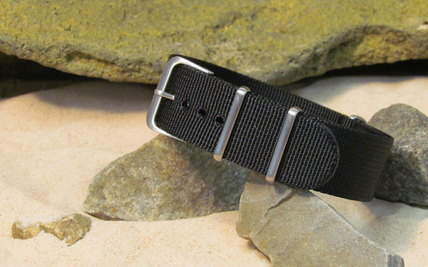 The Black-Ops XII Nato Strap w/ Brushed Hardware (Stitched) 26mm