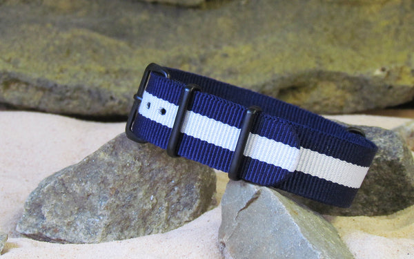 The Gentleman NATO Strap w/ PVD Hardware (Stitched) 22mm