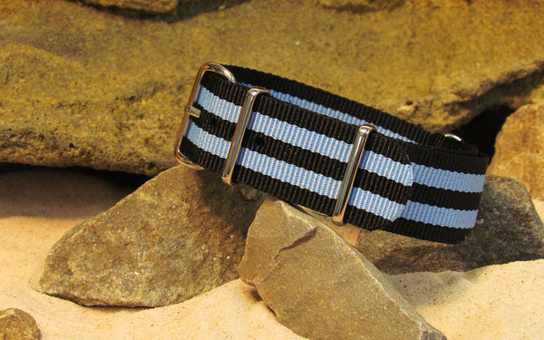 The Busey II Ballistic Nylon Strap w/ Polished Hardware 22mm