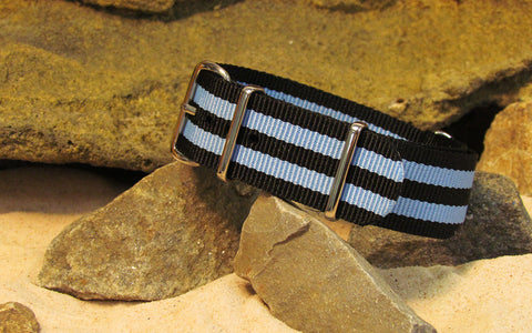 The Busey II NATO Strap w/ Polished Hardware 18mm