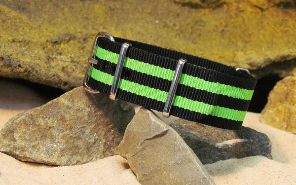 The Busey NATO Strap w/ Polished Hardware 22mm