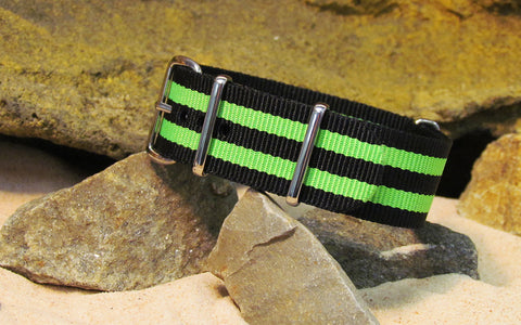 The Busey NATO Strap w/ Polished Hardware 18mm