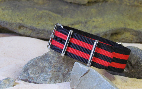 The Cobra NATO Strap w/ Polished Hardware 18mm
