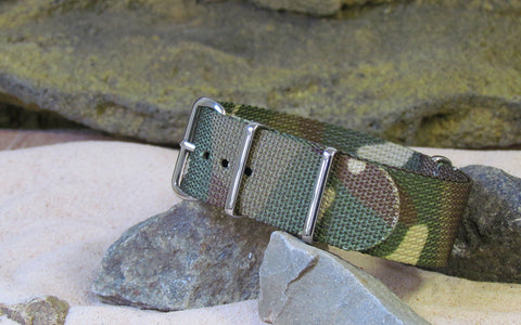 The Col. Braddock NATO Strap w/ Polished Hardware (Stitched) 22mm