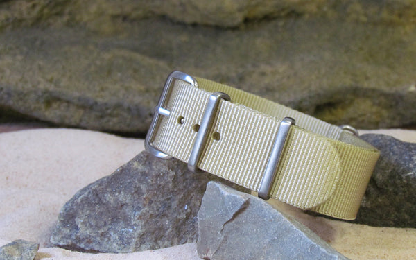 The Desert Dweller NATO Strap w/ Brushed Hardware (Stitched) 22mm