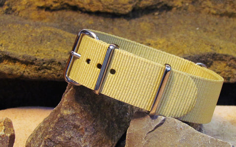 The Desert Dweller NATO Strap w/ Polished Hardware 18mm