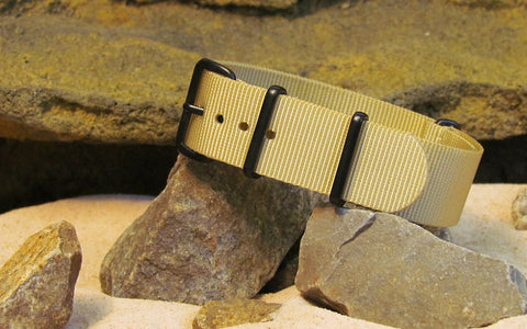 The Desert Dweller Nato Strap w/ PVD Hardware (Stitched) 18mm