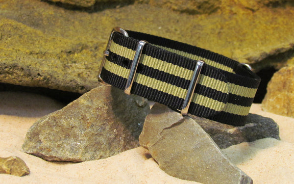 The Desert-Ops Ballistic Nylon Strap w/ Polished Hardware 18mm