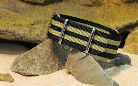 The Desert-Ops NATO Strap w/ Polished Hardware 18mm