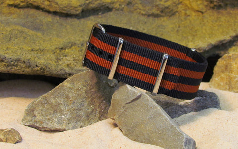The Eclipse Ballistic Nylon Strap w/ Polished Hardware 22mm