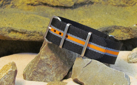 The Gamma NATO Strap w/ Brushed Hardware (Stitched) 22mm