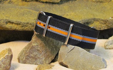 The Gamma Ballistic Nylon Strap w/ Polished Hardware 20mm