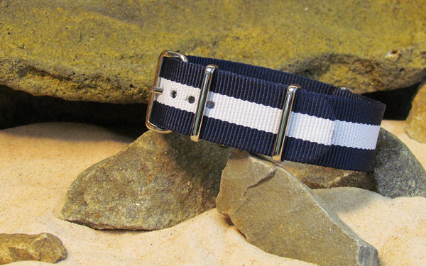 The Gentleman Nato Strap w/ Polished Hardware 24mm