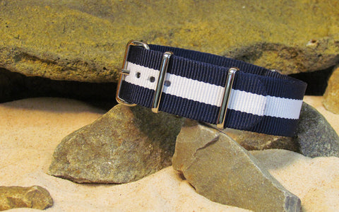 The Gentleman Ballistic Nylon Strap w/ Polished Hardware 18mm