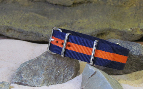 The Gentleman II Ballistic Nylon Strap w/ Polished Hardware 18mm