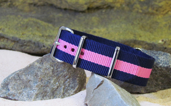 The Gentleman III Ballistic Nylon Strap w/ Polished Hardware 20mm