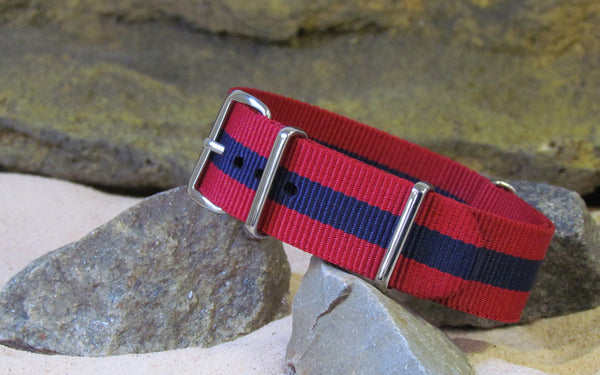 The GQ II NATO Strap w/ Polished Hardware 18mm