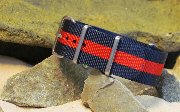 The GQ NATO Strap w/ Brushed Hardware (Stitched) 22mm