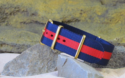 The GQ NATO Strap w/ Gold Hardware (Stitched) 18mm