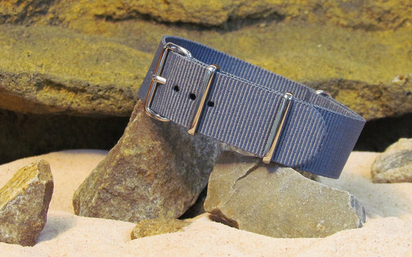 The Gray Matter Ballistic Nylon Strap w/ Polished Hardware 18mm